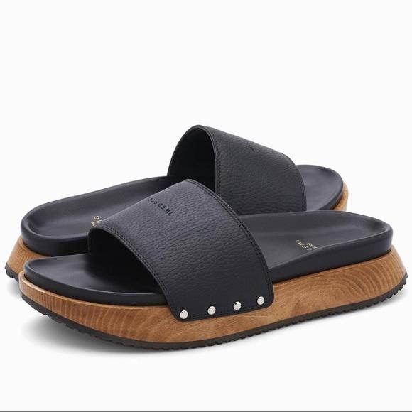 078de6caeba0 Buscemi Leather Alder Wood Topanga Slide